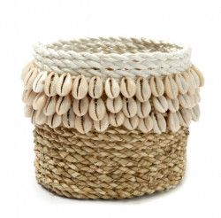 Panier The Weaved Cowrie - Blanc Naturel