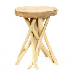The Tulum Tropic Side Table - Natural