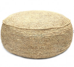 The Raffia Flores Pouffe - Natural