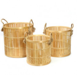 The Bamboo Baskets - Natural - Set 3