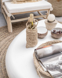 The Raffia Basket Trays - Natural - SET3