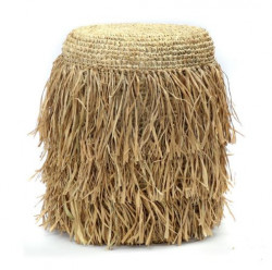The Raffia Shaggy Stool - Round