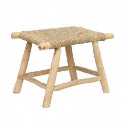 The Porto Seagrass Stool - Natural - M