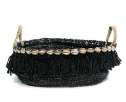 Panier The Boho Fringe - Noir Naturel
