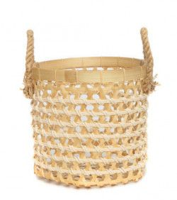Panier The Bamboo Macrame - Blanc Naturel - Petit