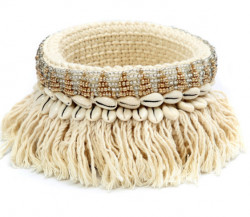 Jardinière The Gold and Silver Macrame - Naturel Or Argent - M