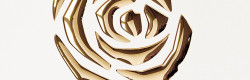3D Roses Pearl White PF/Gold