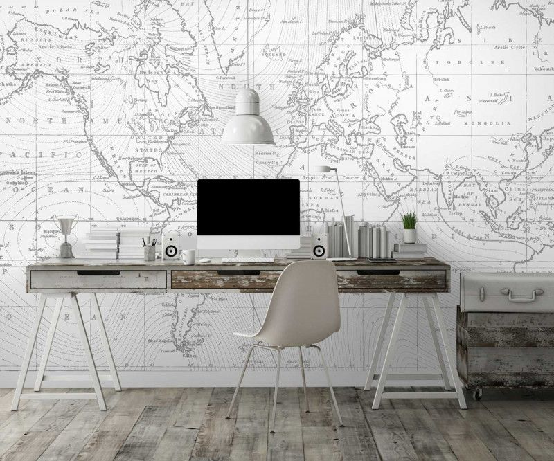 papier peint personnalis photo carte du monde panoramique poster mural. Black Bedroom Furniture Sets. Home Design Ideas