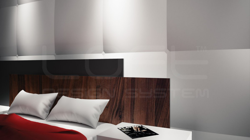 rev tement mural en pl tre avec d cor de capitonn facile poser. Black Bedroom Furniture Sets. Home Design Ideas